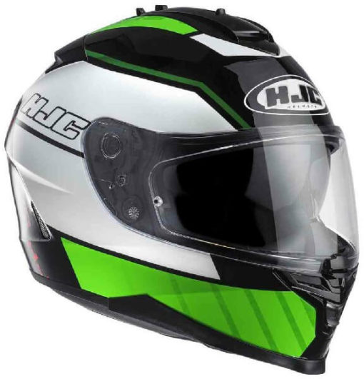 HJC IS 17 Trident MC4 Matt White Green Black Full Face Helmet