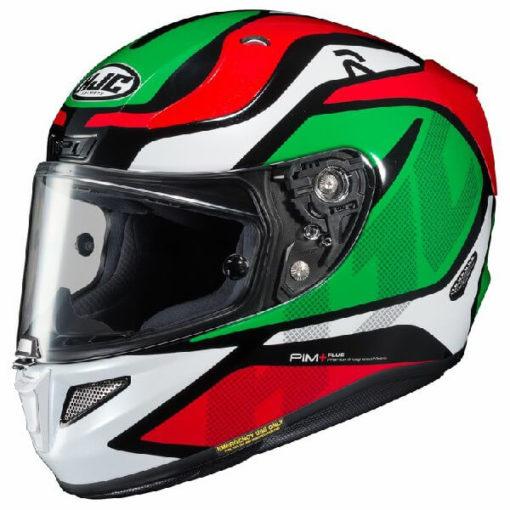 HJC RPHA 11 Deroka MC4 Gloss White Red Green Full Face Helmet