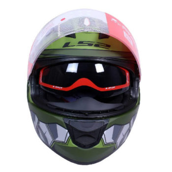 LS2 FF320 Angel Matt Military Green Full Face Helmet 1