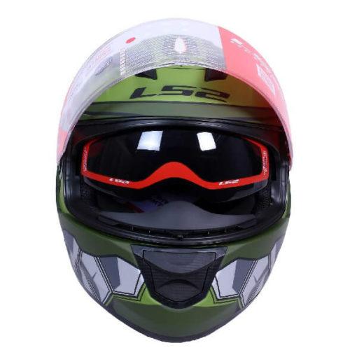 LS2 FF320 Angel Matt Military Green Full Face Helmet 1