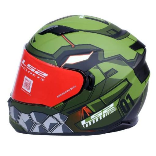LS2 FF320 Angel Matt Military Green Full Face Helmet