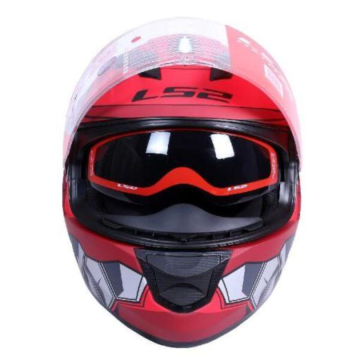 LS2 FF320 Angel Matt Red Full Face Helmet 1