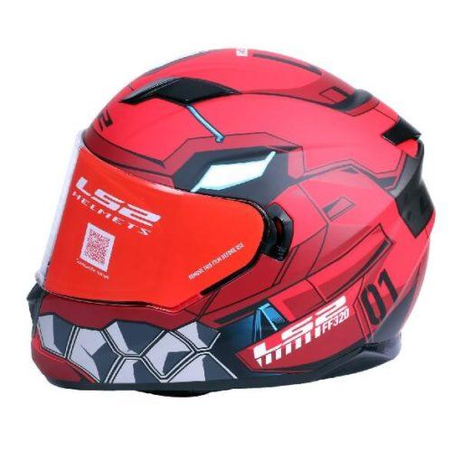 LS2 FF320 Angel Matt Red Full Face Helmet