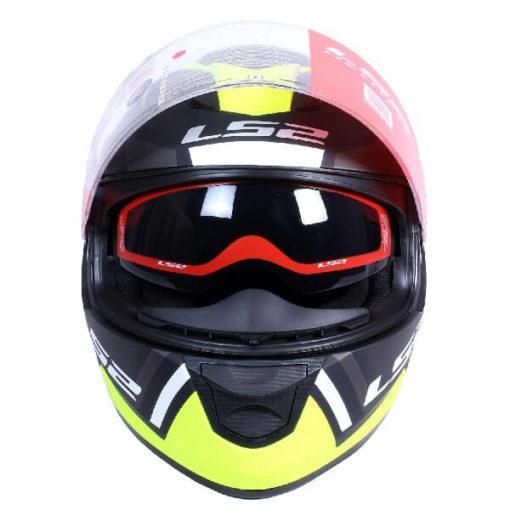 LS2 FF320 Axis Matt Black Fluorescent Yellow Full Face Helmet 1