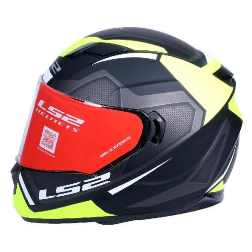 LS2 FF320 Axis Matt Black Fluorescent Yellow Full Face Helmet
