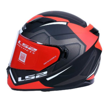 LS2 FF320 Axis Matt Black Red Full Face Helmet