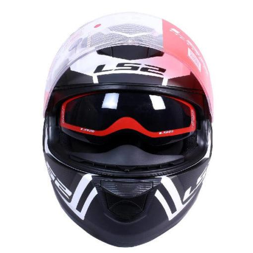 LS2 FF320 Axis Matt Black White Full Face Helmet 1