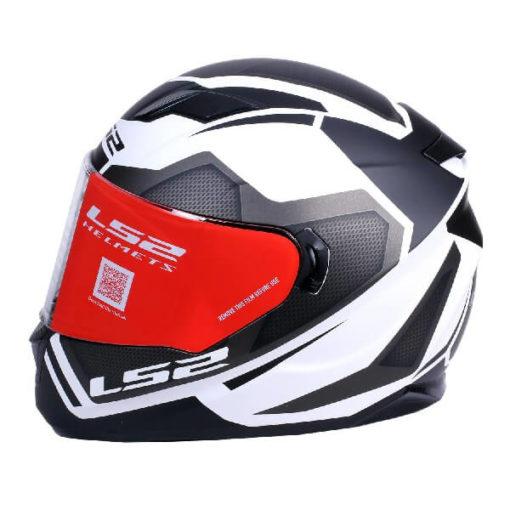 LS2 FF320 Axis Matt Black White Full Face Helmet
