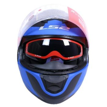 LS2 FF320 Damitry Matt Blue Black Full Face Helmet 1