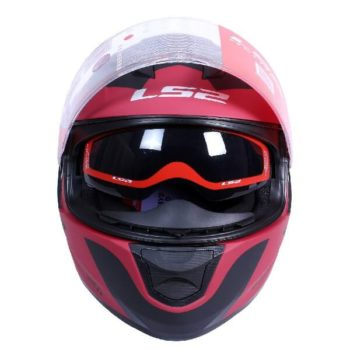 LS2 FF320 Damitry Matt Red Black Full Face Helmet 1