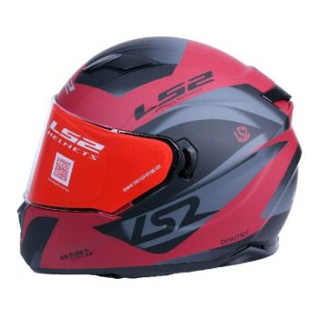 LS2 FF320 Damitry Matt Red Black Full Face Helmet