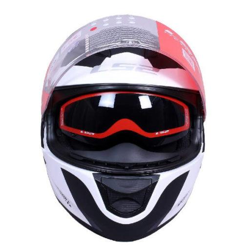 LS2 FF320 Damitry Matt White Black Full Face Helmet 1
