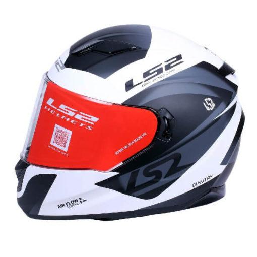 LS2 FF320 Damitry Matt White Black Full Face Helmet
