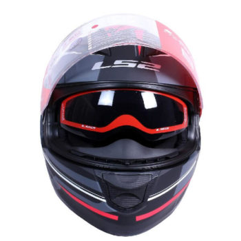 LS2 FF320 Ixel Matt Black Red Full Face Helmet 1