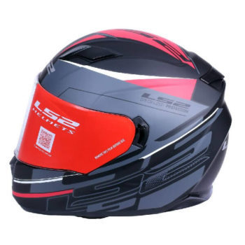 LS2 FF320 Ixel Matt Black Red Full Face Helmet