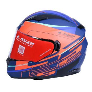 LS2 FF320 Ixel Matt Blue Fluorescent Orange Full Face Helmet