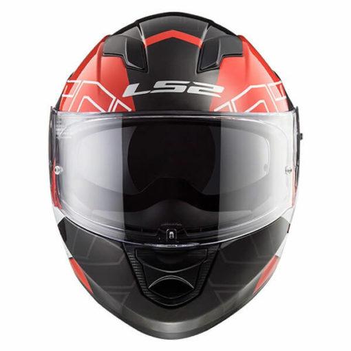 LS2 FF320 Stream Evo Kub Matt Red Black Full Face Helmet 2