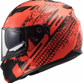 LS2 FF320 Stream Evo Lava Matt Fluorescent Orange Full Face Helmet