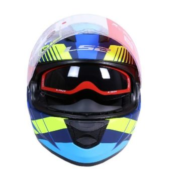 LS2 FF320 Trepid Matt Blue Fluorescent Yellow Full Face Helmet 1