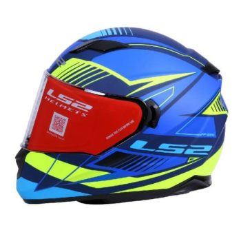 LS2 FF320 Trepid Matt Blue Fluorescent Yellow Full Face Helmet