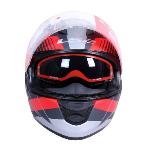 LS2 FF320 Trepid Matt Grey Red Full Face Helmet 1