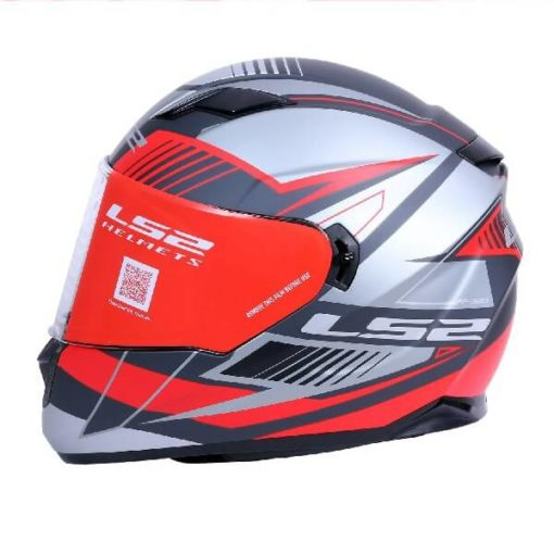 LS2 FF320 Trepid Matt Grey Red Full Face Helmet