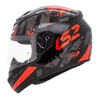 LS2 FF352 Palimnesis Gloss Black Red Full Face Helmet
