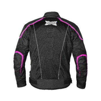 Mototorque Blade Ladies Black Pink Riding Jacket 1