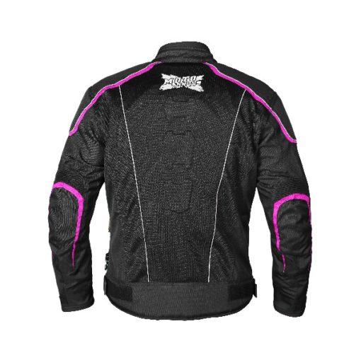 Mototorque Blade Ladies Black Pink Riding Jacket 1