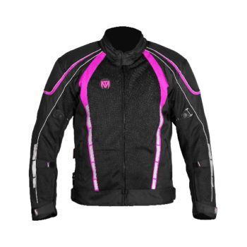 Mototorque Blade Ladies Black Pink Riding Jacket