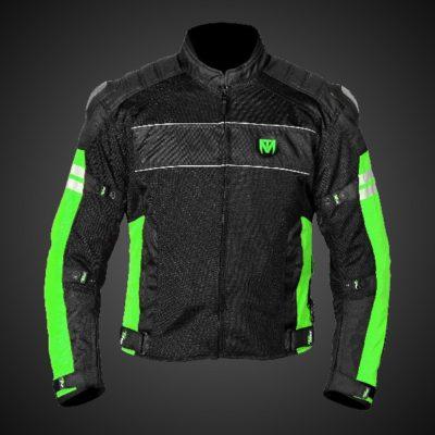 Mototorque Resistor L2 Black Green Riding Jacket