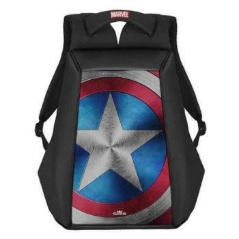 RoadGods Ghost Captain America Shield Black Backpack