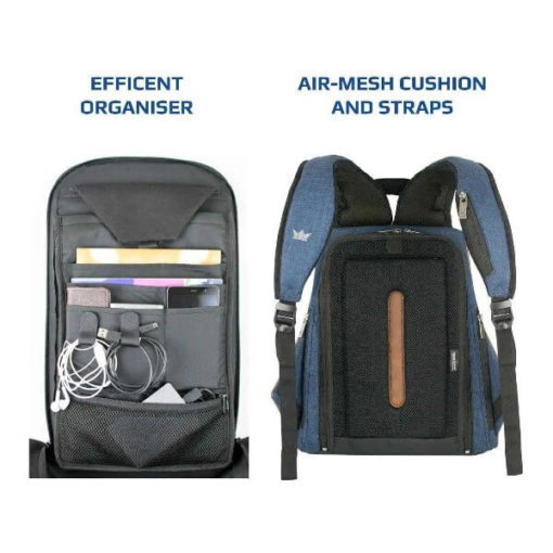 RoadGods Ghost Laptop Blue Backpack 3