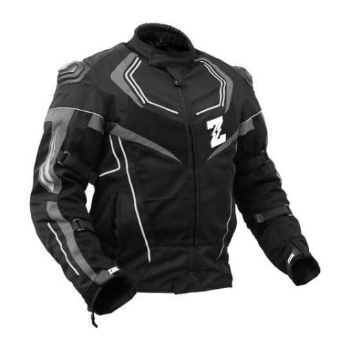 Zeus Airdrift Sp X Black Grey Riding Jacket