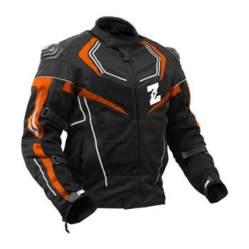 Zeus Airdrift Sp X Black Orange Riding Jacket