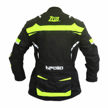 Zeus Apollo Black Fluorescent Yellow Riding Jacket 1