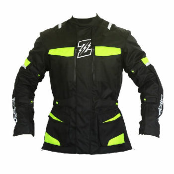 Zeus Apollo Black Fluorescent Yellow Riding Jacket