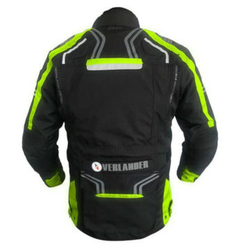 Zeus Overlander Black Fluorescent Yellow Riding Jacket 1