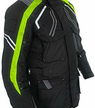 Zeus Overlander Black Fluorescent Yellow Riding Jacket