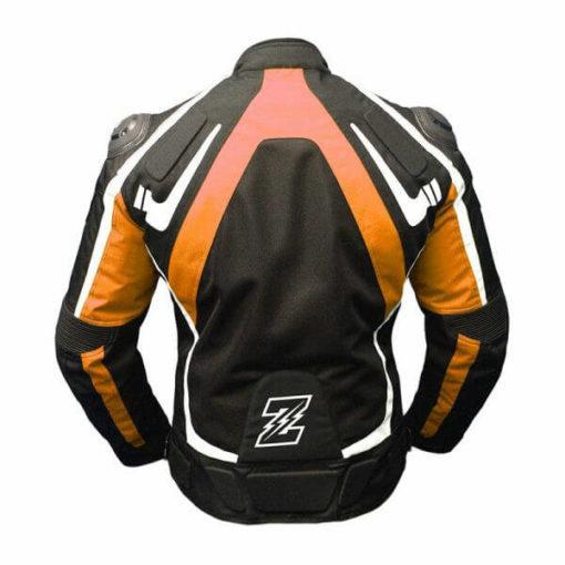Zeus Viper White Orange Riding Jacket 1