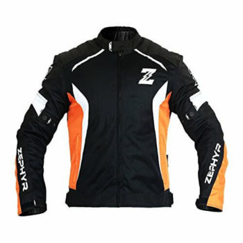 Zeus Zephyr All Season Black Orange White Riding Jacket