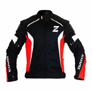 Zeus Zephyr All Season Black Red White Riding Jacket