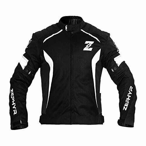 Zeus Zephyr All Season Black White Riding Jacket