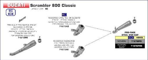 Arrow Racing Kit for Ducati Scrambler 800 2017 1