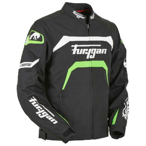 Furygan Arrow Vented Black White Fluorescent Green Riding Jacket 2