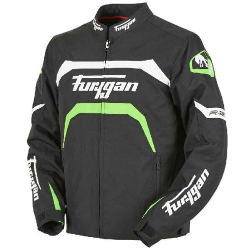 Furygan Arrow Vented Black White Fluorescent Green Riding Jacket 3