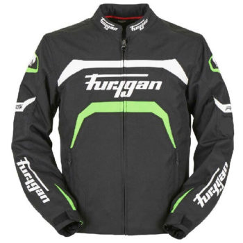 Furygan Arrow Vented Black White Fluorescent Green Riding Jacket