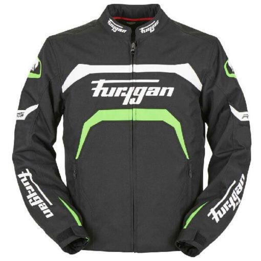 Furygan Arrow Vented Black White Fluorescent Green Riding Jacket