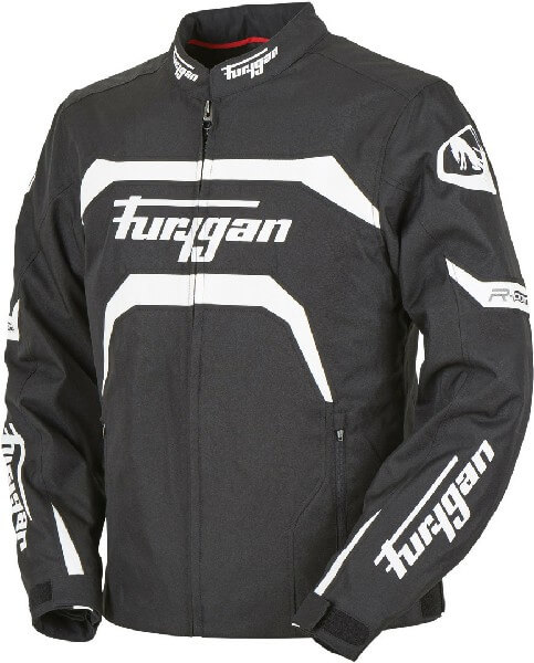 Furygan Arrow Vented Black White Riding Jacket 2