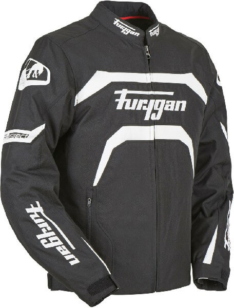Furygan Arrow Vented Black White Riding Jacket 3